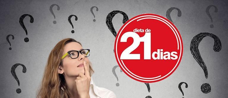 mulher olhando com duvida para a logo da dieta de 21 dias do Dr. Rodolfo Aurélio